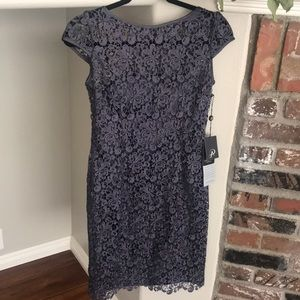Adrianna Papell NWT blue-violet lace dress